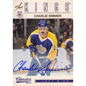 2012-13 Panini Classics Signatures Charlie Simmer Autograph