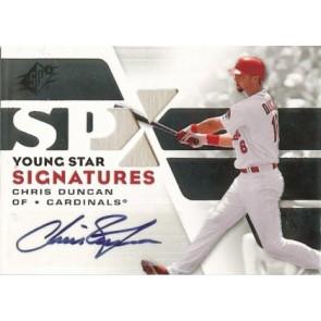 2008 Upper Deck SPX Chris Duncan Silver Young Star Signatures