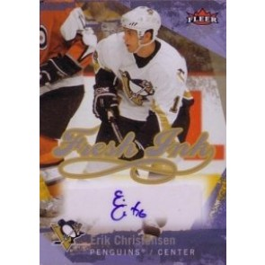 2007-08 Fleer Ultra Erik Christensen Fresh Ink Auto