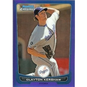 2012 Bowman Chrome Clayton Kershaw Blue Refractor 017/250