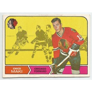 1968-69 O-Pee-Chee OPC Set Break Card #17 CHICO MAKI Chicago Black Hawks