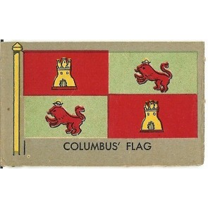 1950 Topps Flags of the World COLUMBUS' FLAG