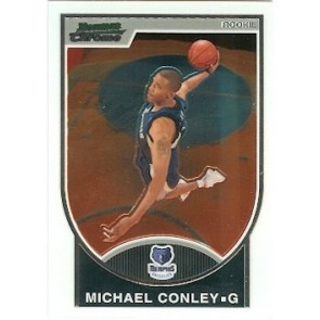 2007-08 Bowman Chrome Michael Conley Rookie 0600/2999