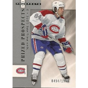2005-06 Fleer Hot Prospects Jean-Philippe Cote Prized Prospects Rookie 0494/1999