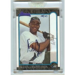 2006 Bowman Originals - Carl Crawford 1999 Bowman RC Autograph #'d 08/37