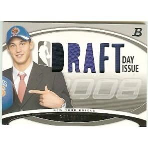 2008-09 Bowman Danilo Gallinari Draft Day Issue Relics 66/99 2 Color