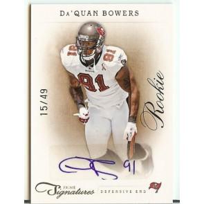 2011 Panini Prime Signatures Da'Quan Bowers Rookie Autograph 15/49
