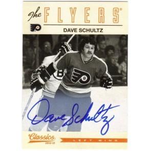 2012-13 Panini Classics Signatures Dave Schultz Autograph