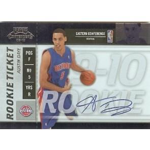2009-10 Panini Playoff Contenders Austin Daye Rookie Autograph