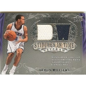 2007-08 Upper Deck Chronology Deron Williams Stitches in Time Dual Memorabilia 2 color 28/50