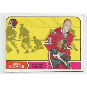 1968-69 O-Pee-Chee OPC Set Break Card #19 DOUG MOHNS Chicago Black Hawks
