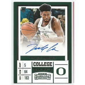 2017-18 Contenders Draft Picks TYLER DORSEY College Ticket Rookie Auto