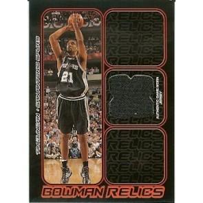 2006-07 Bowman Draft Picks & Stars Tim Duncan Bowman Relics