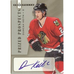 2005-06 Fleer Hot Prospects Duncan Keith Autograph Rookie 446/999