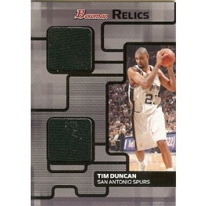 2007-08 Bowman Draft Picks & Stars Tim Duncan Bowman Relics 018/199