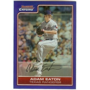 2006 Bowman Chrome Adam Eaton Blue Refractor 080/150 Card #124 Texas Rangers