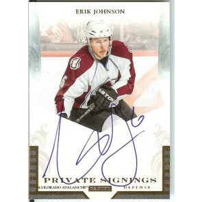 2011-12 Panini Dominion Erik Johnson Private Signings Autograph