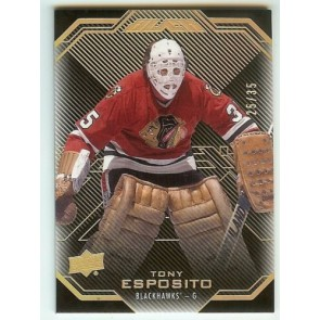 2016-17 UD BLACK RARE GOLD TONY ESPOSITO #'d 25/35 CARD #39 SP