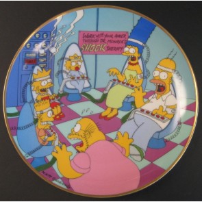 """The Simpsons """"Family Therapy"""" Collectible Plate"""
