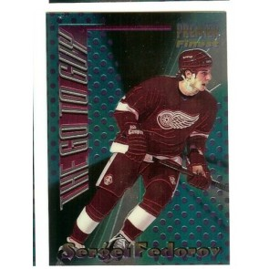 1994-95 TOPPS PREMIER THE GO TO GUY SERGEI FEDOROV Insert Card # 9 RED WINGS