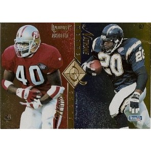 1995 Playoff Absolute William Floyd Natrone Means Ricky Watters Marcus Allen Quad