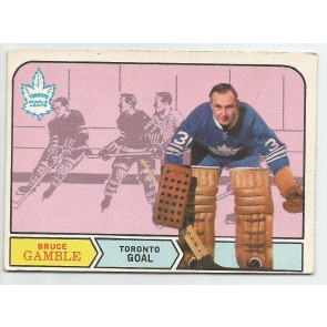 1968-69 O-Pee-Chee  Card #197  BRUCE GAMBLE  Maple Leafs