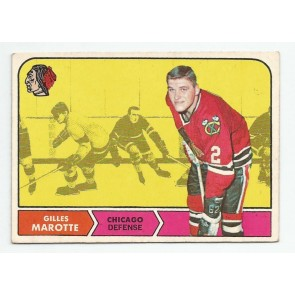 1968-69 O-Pee-Chee OPC Set Break Card #14 GILLES MAROTTE Chicago Black Hawks