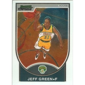 2007-08 Bowman Chrome Jeff Green Rookie 0991/2999