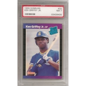1989 Donruss Ken Griffey Jr. Rookie Graded PSA 7 NM