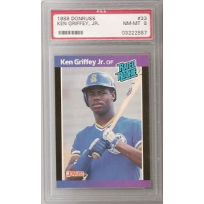 1989 Donruss Ken Griffey Jr. Rookie Graded PSA 8 NM-MT