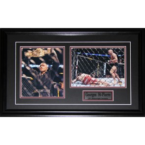 Georges St-Pierre Signed UFC 2 Photo Frame