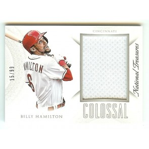 2015 National Treasures Billy Hamilton Colossal Game Used Jersey Relic #15/99