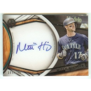 2018 Topps Tribute Mitch Haniger Seattle Mariners ON CARD Auto Acetate #185/199