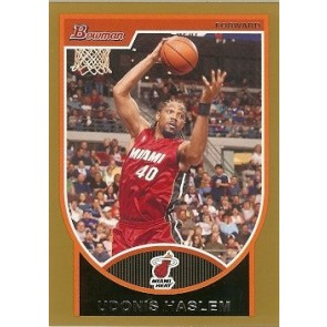 2007-08 Bowman Udonis Haslem Gold 04/99