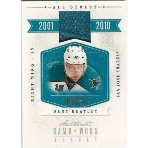 2010-11 Panini Dominion Dany Heatley Game Used Jersey Memorabilia 60/99