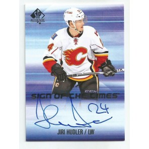 2015-16 SP Authentic JIRI HUDLER Sign of the Times Calgary SOTT-JH