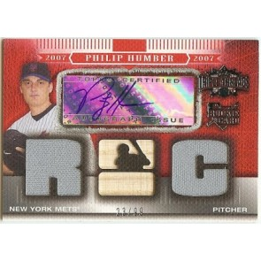 2007 Topps Triple Threads Philip Humber Autograph Rookie Jersey Memorabilia 23/99