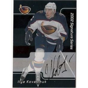 2001-02 Upper Deck Be A Player Ilya Kovalchuk Signature Series Auto