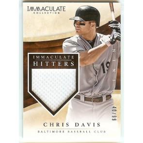 2014 Panini Immaculate Chris Davis Game Jersey /99