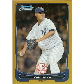 2012 Bowman Chrome Ivan Nova Gold Refractor 22/50
