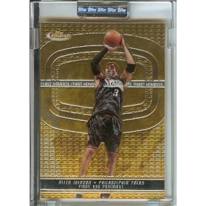 2005-06 Topps Finest Allen Iverson Uncirculated Encased Single 018/399