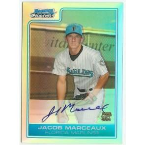 2007 Bowman Chrome Jacob Marceaux Autograph Refractor  128/500