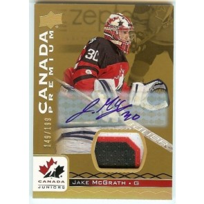 2017-18 UD Team Canada Juniors JAKE McGRATH #59 Patch Autograph 149/199 3 COLOR