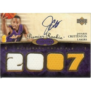 2007-08 Upper Deck Premier Javaris Crittenton Autograph Materials Quad 104/199