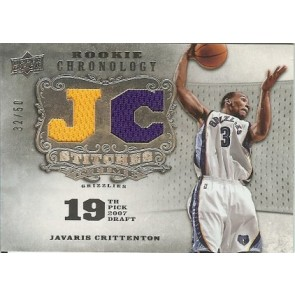 2007-08 Upper Deck Chronology Javaris Crittenton Stitches in Time Dual Jersey 32/50 2 color