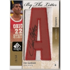 2011-12 Upper Deck SP Authentic Jim Jackson By the Letter Autograph Patch 10/50
