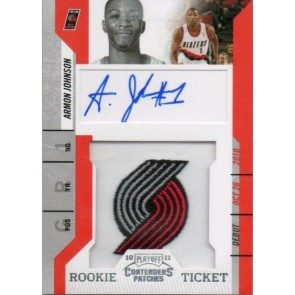 2010-11 Panini Playoff Contenders Armon Johnson Rookie Ticket Patch Autograph