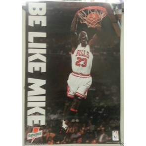 "1992 Michael Jordan Gatorade Basketball Poster BE LIKE MIKE 17"" x 25"" Chicago"
