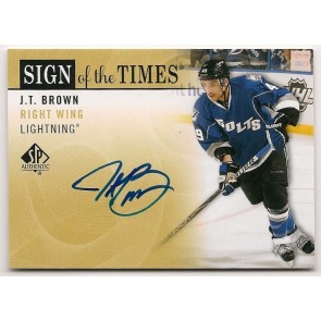 2012-13 SP Authentic J.T. Brown Sign of the Times Autograph
