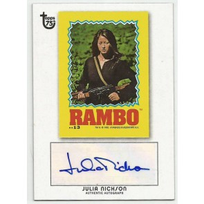 2013 Topps 75th Anniversary Julia Nickson Autograph